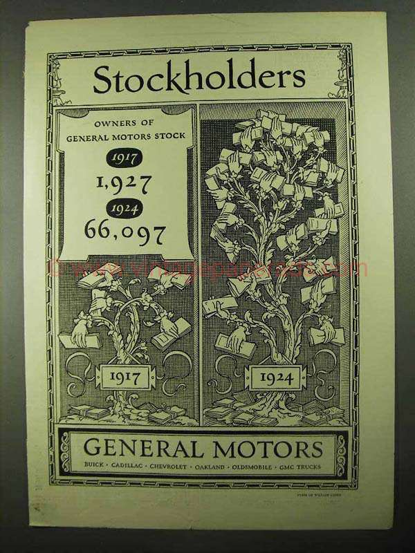 1925 General Motors Ad Stockholders