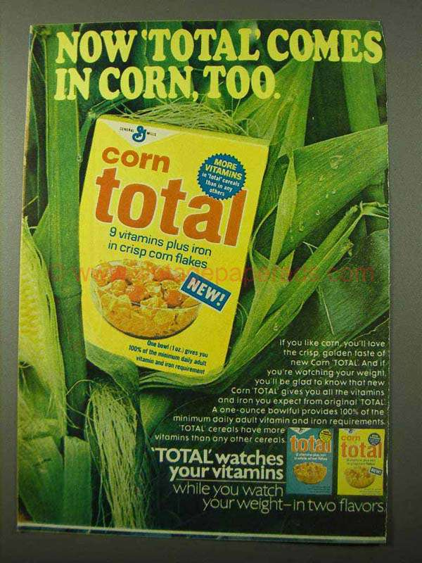 1971 general mills corn total cereal ad