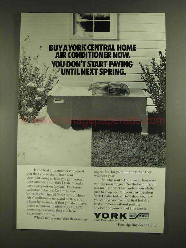 1972 York Central Air Conditioning Ad