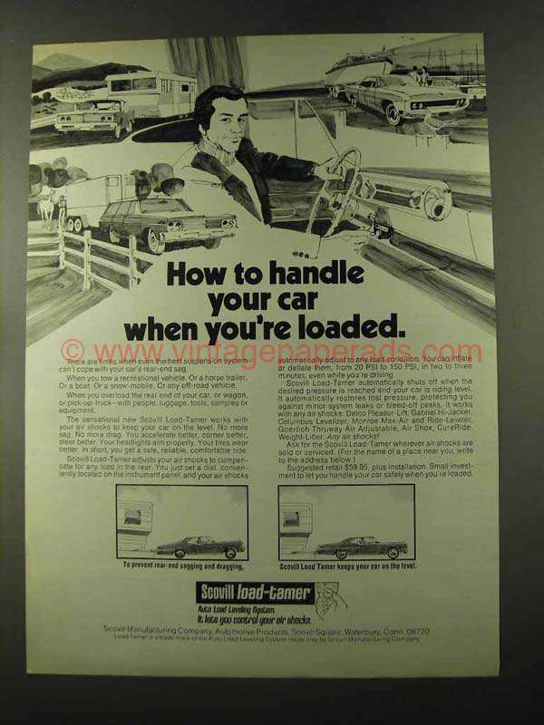 1973 Scovill Load-Tamer Ad - Handle Your Car