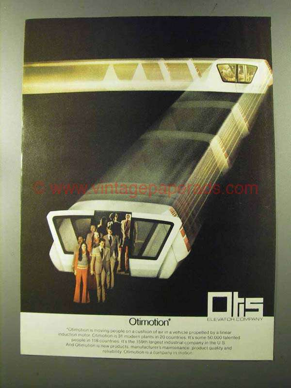 1973 Otis Elevator Linear Induction Motor Vehicle Ad
