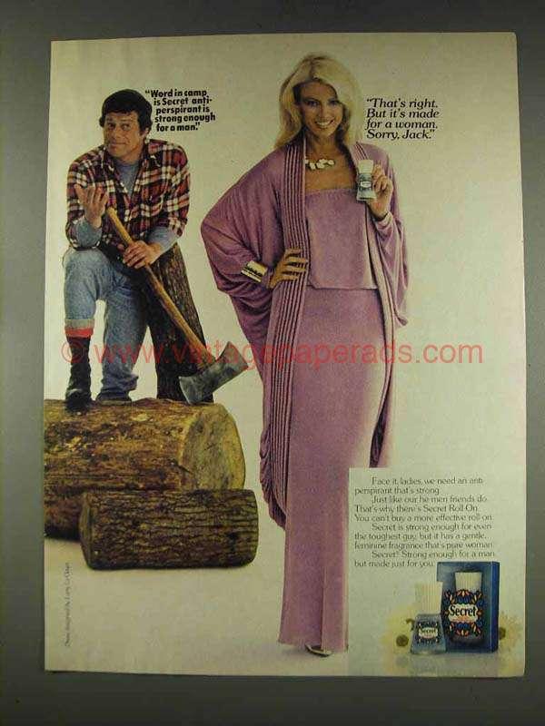 1977 Secret Deodorant Ad - Strong Enough