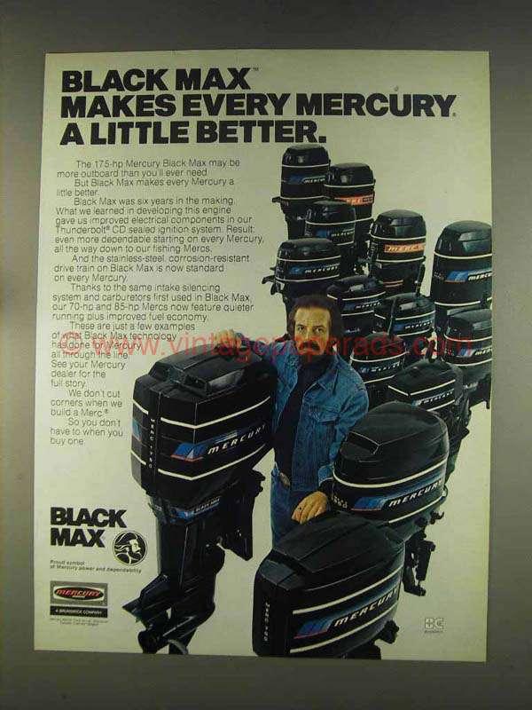 1976 Mercury Black Max Outboard Motors Ad