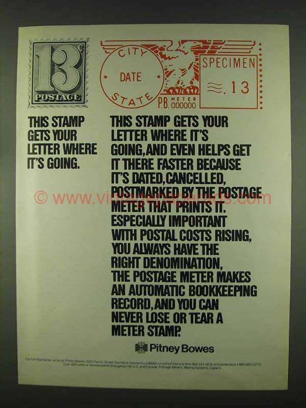 how to read a postage meter stamp