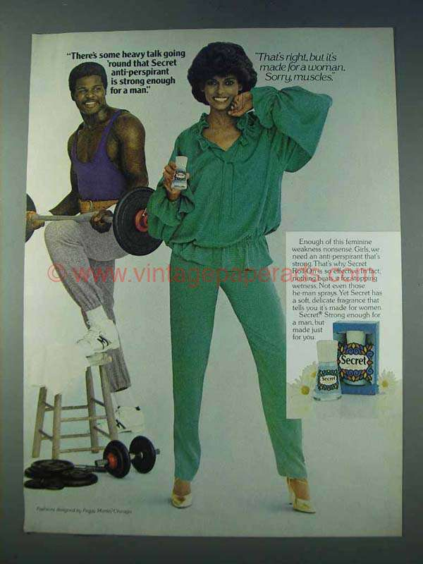 1978 Secret Deodorant Ad - There's Some Heavy Talk