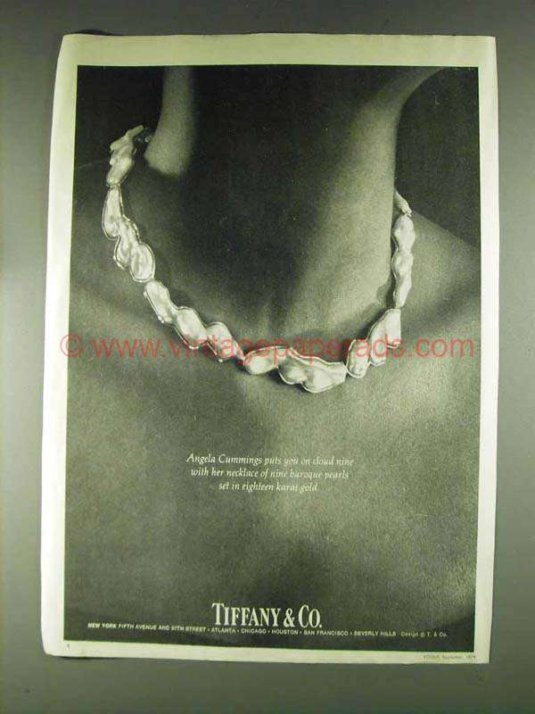 1979 Tiffany & Co. Angela Cummings Necklace Ad