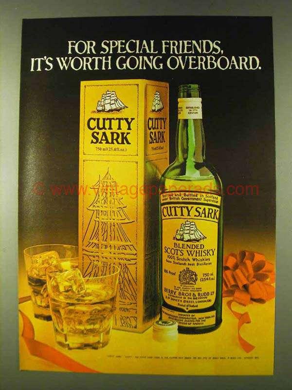 how to drink cutty sark scotch
