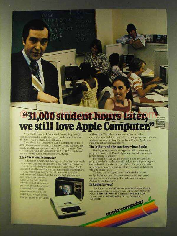 1979 Apple Computers Ad - 31,000 Student Hours Later