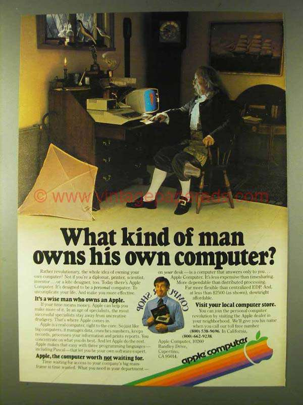 1979 Apple Computers Ad - What Kind of Man Owns His Own
