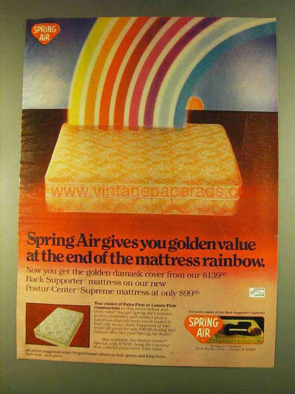 1980 Spring Air Mattress Ad Gives You Golden Value