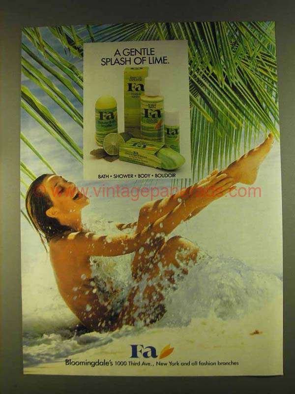 1980 Fa Bath Shower Body And Boudoir Products Ad
