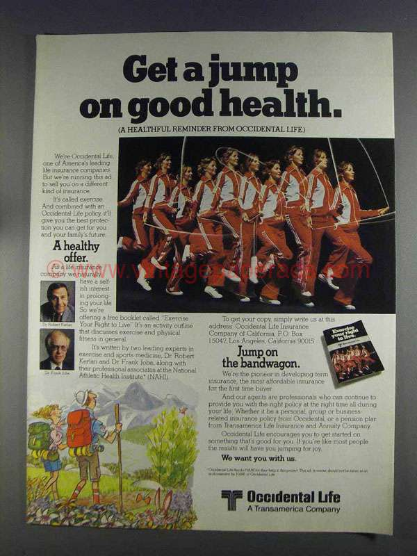 1980 Occidental Life Insurance Ad - Get A Jump On