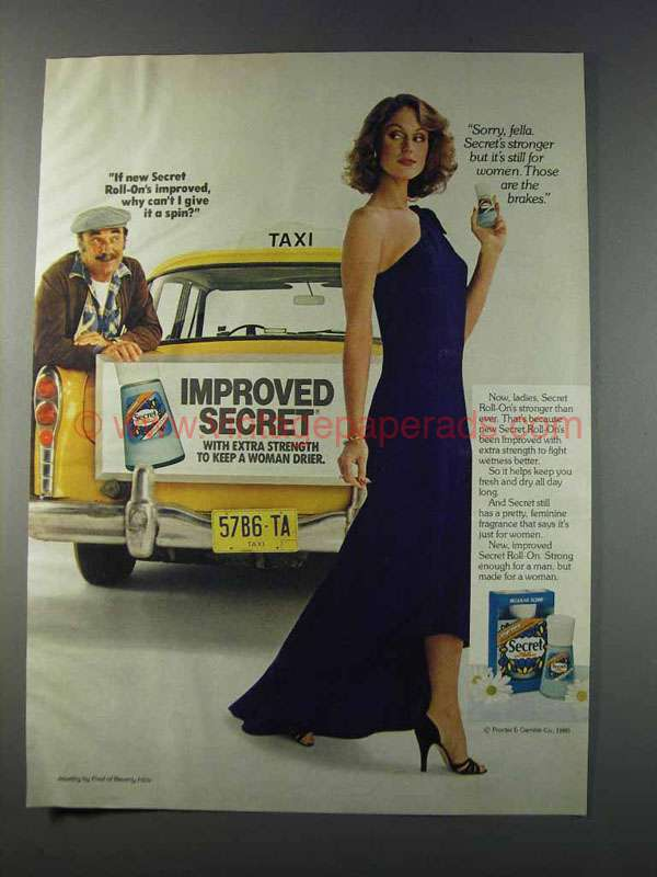 1981 secret deodorant ad cant i give it a spin