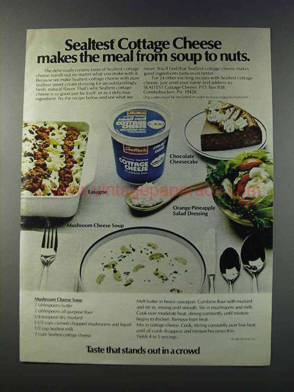 1981 Sealtest Cottage Cheese Ad Makes The Meal