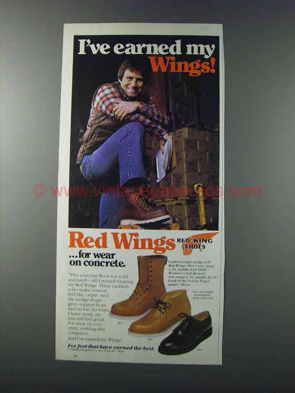 1981 Red Wings Boots Ad 877 595 And 101