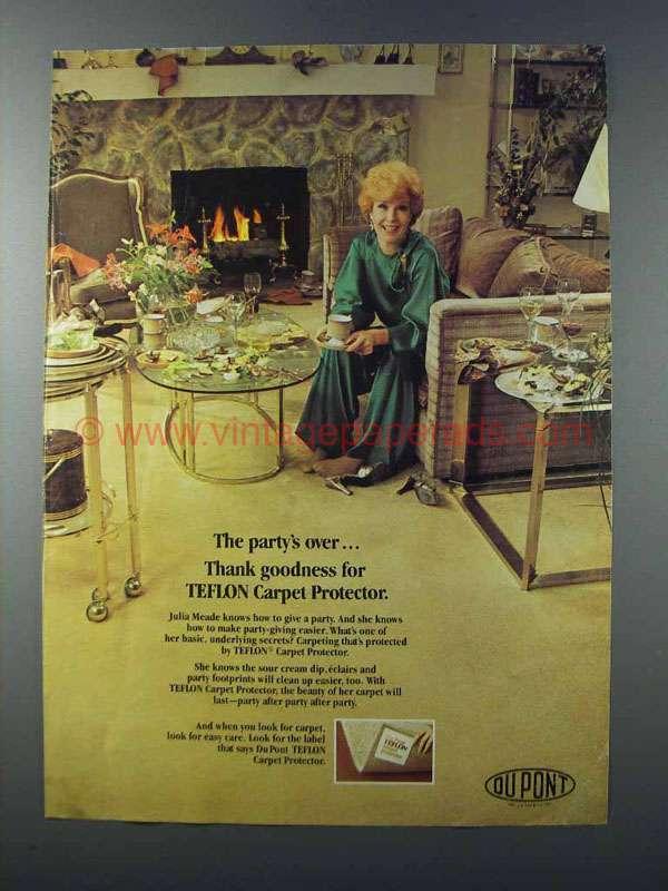 1981 Du Pont Teflon Carpet Protector Ad Julia Meade