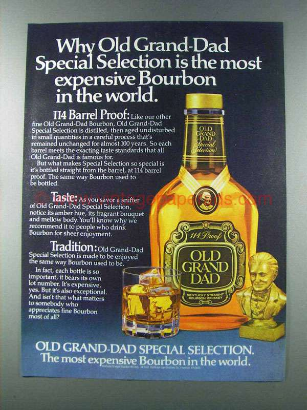 1981 Old Grand Dad Special Selection 114 Bourbon Ad