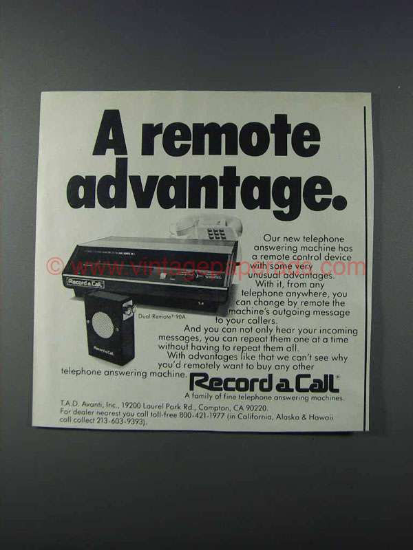record a call answering machine