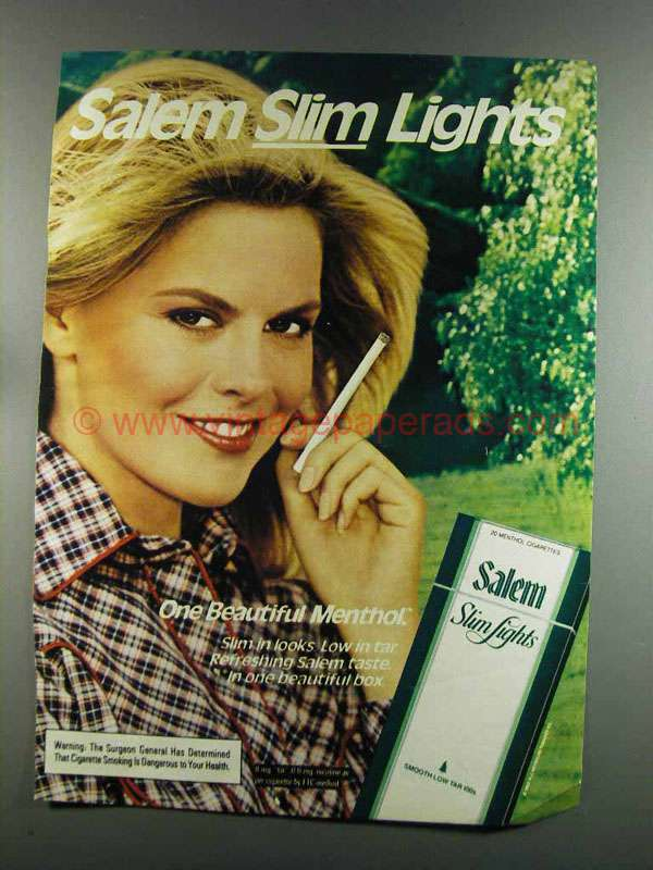 1990 Salem Cigarette Ad The Refreshest