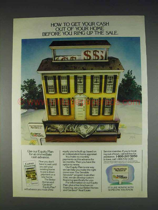 1982 Better Homes And Gardens Equity Plan Ad