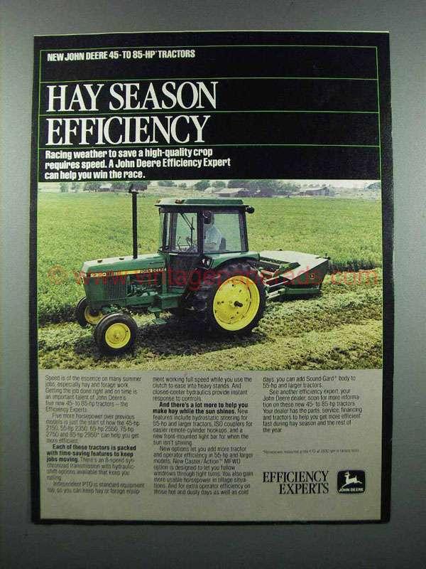 John Deere Tractor Ad : John deere tractor ad hay season efficiency