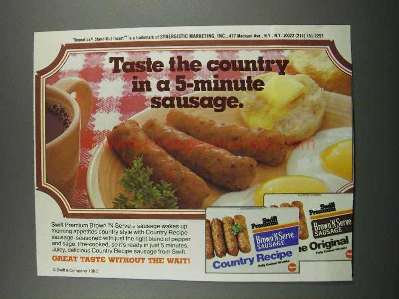 brown n serve sausage how to cook