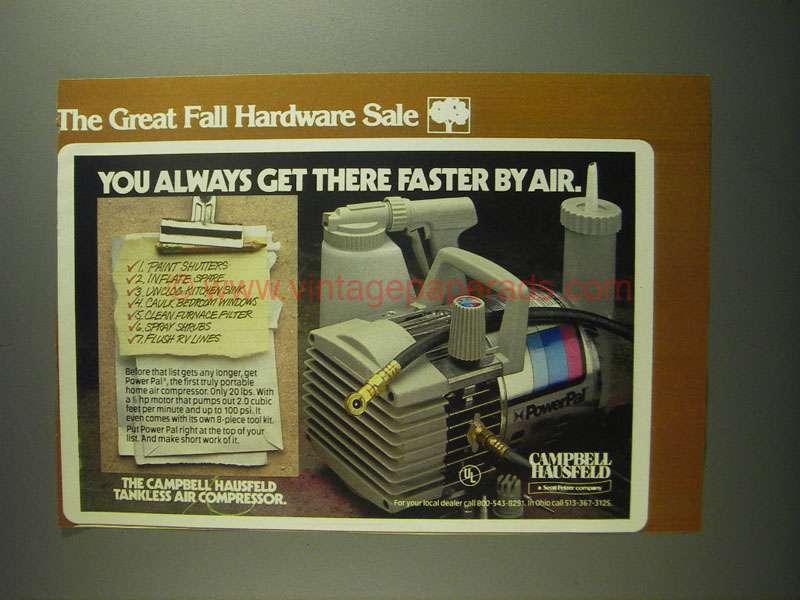 Vintage Campbell Hausfeld Air Compressor : Campbell hausfeld powerpal air compressor ad