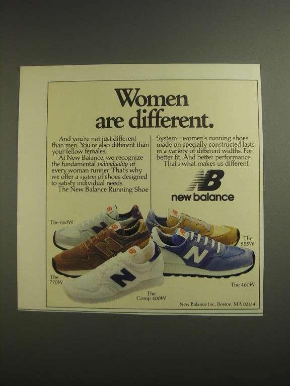1984 New Balance Running Shoes Ad - 660W 770W 555W