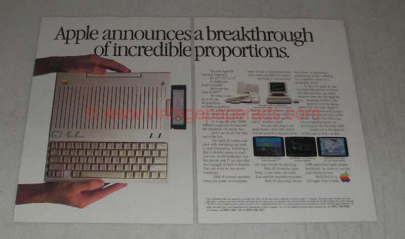 1984 Apple IIC Personal Computer Ad - Breakthrough