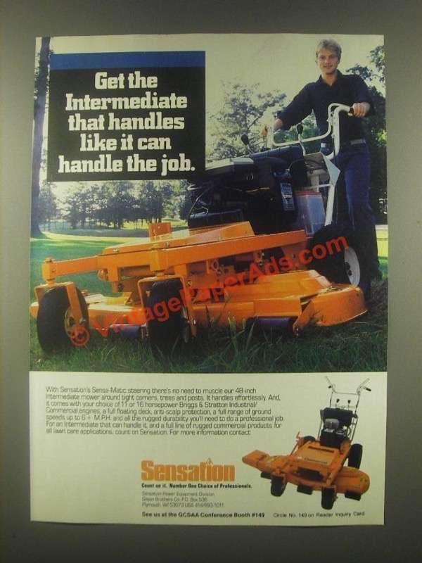 1985 Sensation Commercial Lawn Mower Ad