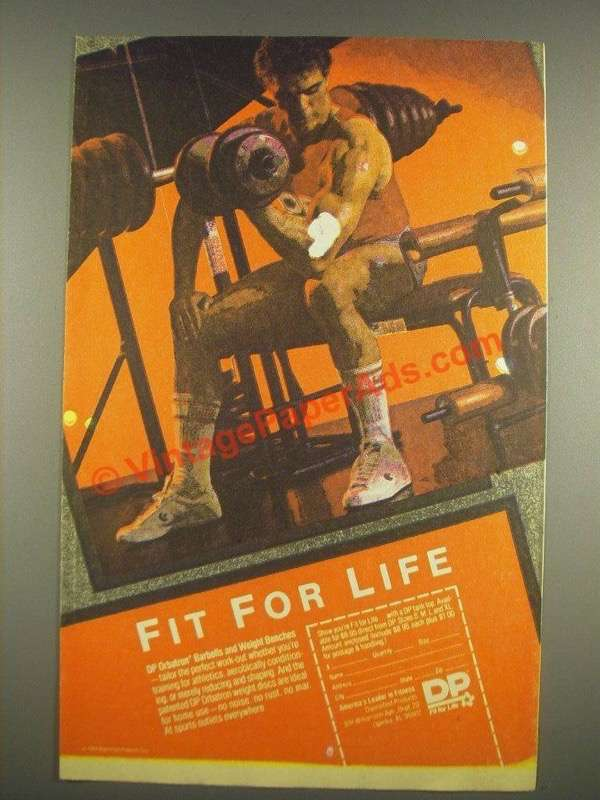 1985 Dp Orbatron Barbells And Weight Benches Ad Fit For Life