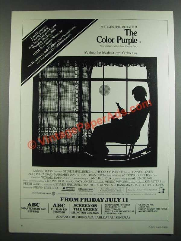 the color purple movie essay The color purple – a worked essay example  men, women and gender roles feminism/womanism in walker's novel, in search of our mothers' gardens (1984),.