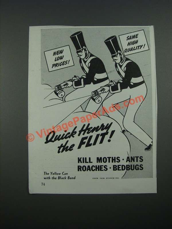 Quick Ads For Beauty Product Blusher Oneminutebriefs: 1938 Flit Bug Spray Ad