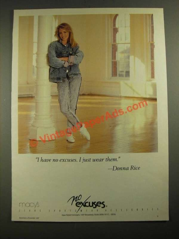 Trucks That Are Good On Gas >> 1987 No Excuses Jeans Ad - Donna Rice