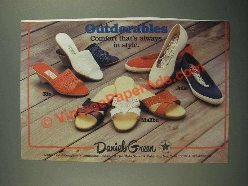 1987 Daniel Green Shoes Ad - Rio, Julie, Malibu
