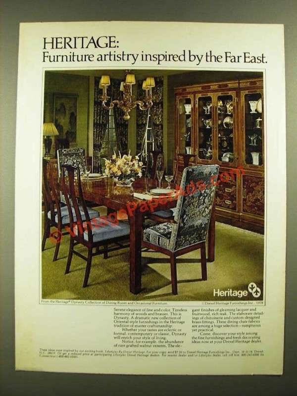 1978 Drexel Heritage Dynasty Collection Dining Room