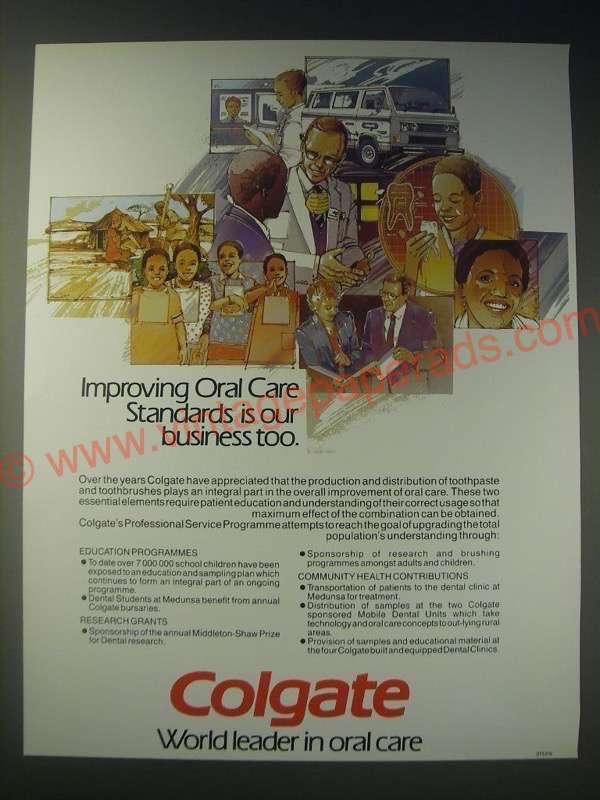 1989 Colgate Professional Service Programme Ad
