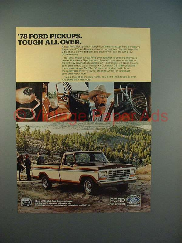 1978 Ford Truck >> 1978 Ford Pickup Truck Ad - Tough All Over