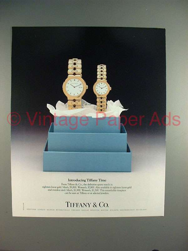 1987 Tiffany & Co. Watch Ad - Introducing Tiffany Time!