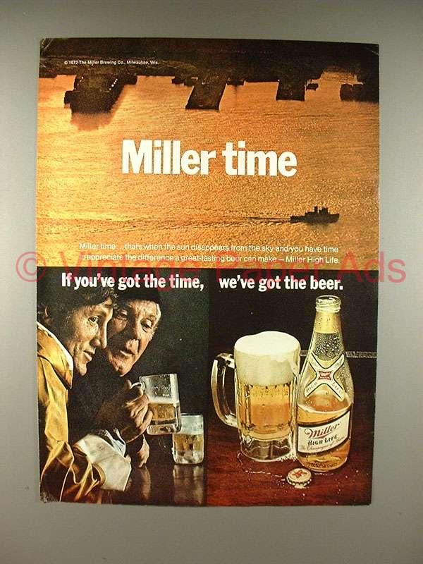 miller beer ads essay That's the message that anheuser-busch, coors, and miller send with the tv ads they run — and it isn't just the beverage-distribution industry that has.