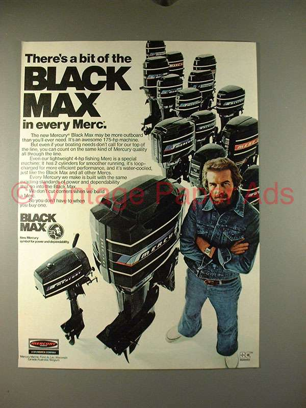 1976 Mercury Black Max Outboard Motor Ad Every Merc