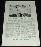 1929 Ford Airplane Ad, When Fledglings Fly!!