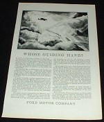 1929 Ford Airplane Ad, Whose Guiding Hand!!!