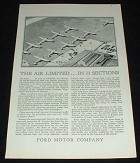 1929 Ford Airplane Ad, Limited 11 Sections!!