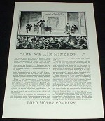 1929 Ford Airplane Ad, Are We Air-Minded?!!