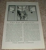 1929 Ford Airplane Ad, The Way of Eagles!!