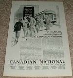 1929 Canadian National RR Ad, America's Play!
