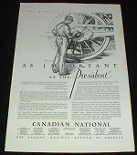 1929 Canadian National RR Ad, Important!!