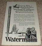 1929 Waterman No.7 Pen Ad, Byrd Expedition!!