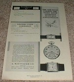 1929 Longines Watch Ad, Greatest Flights!!!